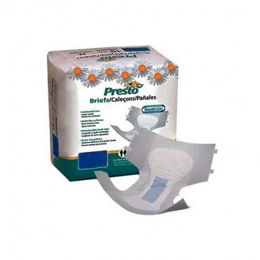 "Presto Breathable Stretch Brief, Extended Absorbency, Large/x-large, 48""-66"" Part No. Abs41050 (14/package)"