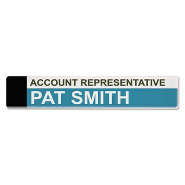 Panel Wall Sign Name Holder, Acrylic, 9 X 2, Clear