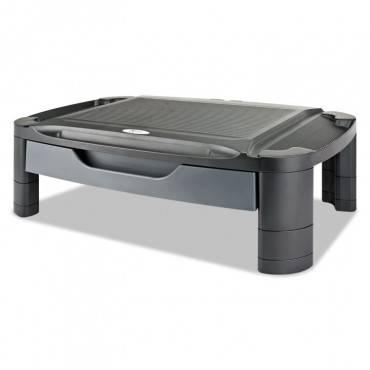"Alera  3-In-1 Storage Cart And Stand, 21 5/8""w X 13 3/4""d X 24 3/4""h,black/gray ALEU3N1BL 1 Each"