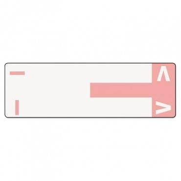 Alpha-Z Color-Coded First Letter Name Labels, I & V, Pink, 100/pack
