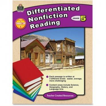 Teacher Created Resources Grade 5 Differentiated Reading Book Education Printed Book (EA/EACH)