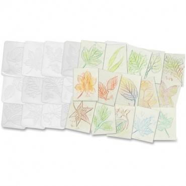 Roylco Leaf Shape Rubbing Plates (PK/PACKAGE)