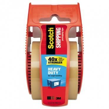 """3850 Heavy-Duty Packaging Tape In Sure Start Disp., 1.88"""" X 800"""", Tan"""