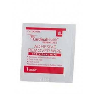 "Cardinal health essentials adhesive remover wipe 1-1/4"" x 3"" part no. 30075 (1/ea)"