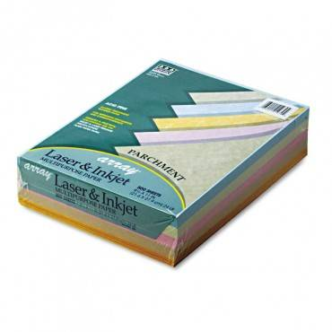 Array Colored Bond Paper, 24lb, 8.5 X 11, Assorted Parchment Colors, 500/ream