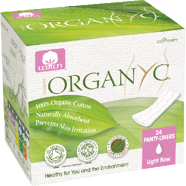 Organyc 100% organic cotton panty liners, light flat part no. orgst01 (24/package)