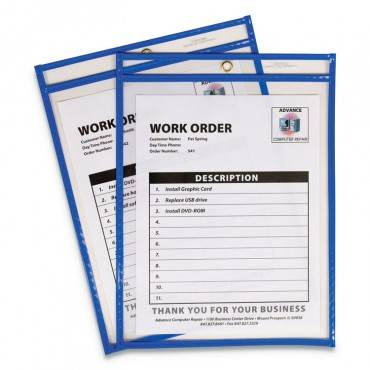 "C Line  STITCHED SHOP TICKET HOLDERS, TOP LOAD, SUPER HEAVY, 9"" X 12"" INSERTS, 15/BOX 43915 15 Box"