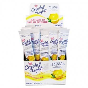 Flavored Drink Mix, Lemonade, 30 .17oz Packets/box