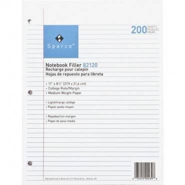 Sparco Notebook Filler Paper - Letter (PK/PACKAGE)