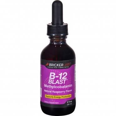Bricker Labs - B-12 Blast - Methylcobalamin - Natural Raspberry - 2 Oz