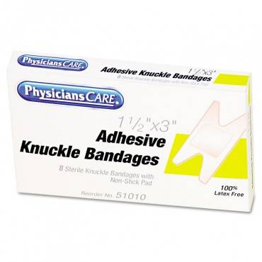 Physicianscare  By First Aid Only  First Aid Fabric Knuckle Bandages, 8/box 1009 8 Box