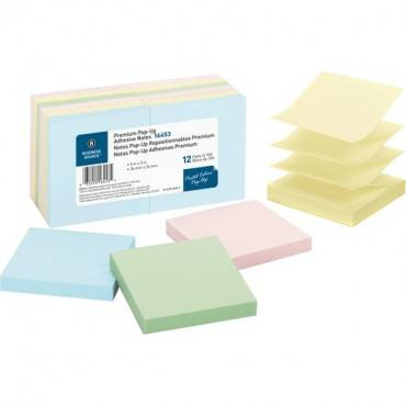 Business Source Reposition Pop-up Adhesive Notes (PK/PACKAGE)