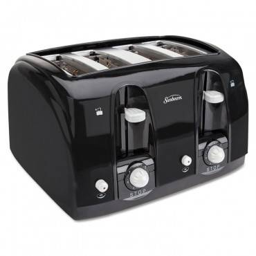 Extra Wide Slot Toaster, 4-slice, 11 3/4 X 13 3/8 X 8 1/4, Black