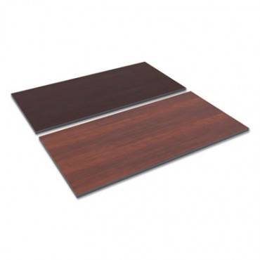 Reversible Laminate Table Top, Rectangular, 59 1/2w X 29 1/2,med Cherry/mahogany