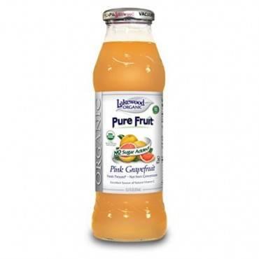 Lakewood Pure Pink Grapefruit Juice - Grapefruit - Case of 12 - 12.5 Fl oz.