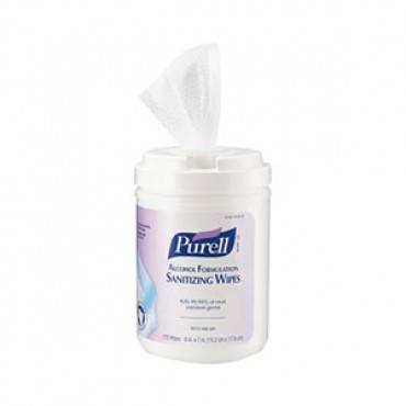 "Purell alcohol formulation sanitizing wipes, 7"" x 6"" part no. 903106 (1/ea)"