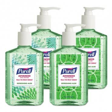 Advanced Hand Sanitizer Soothing Gel, Fresh Scent With Aloe And Vitamin E, 8 Oz Pump Bottle, 4/pack