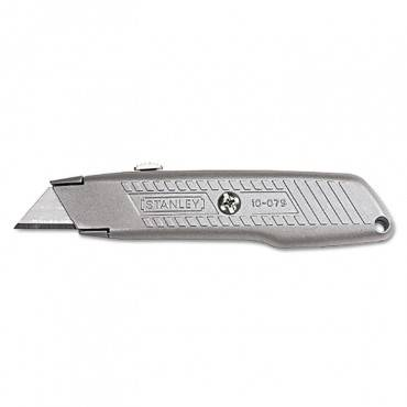 Interlock Retractable Utility Knife, Metal
