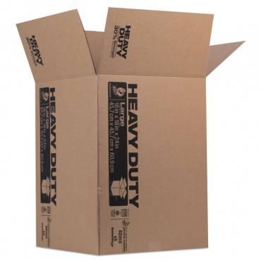 Heavy-Duty Moving/storage Boxes, 18l X 18w X 24h, Brown
