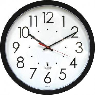 "Chicago Lighthouse 14.5"" Self/Set Quartz Clock (EA/EACH)"