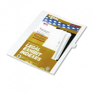 "80000 Series Legal Exhibit Index Dividers, Side Tab, ""l"", White, 25/pack"