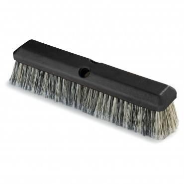 "Carlisle Vehicle Wash Brush, 2 1/2"" Gray Plastic/Polystyrene Bristles, 14"" Brush"