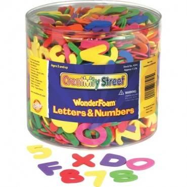 Creativity Street Wonderfoam Tub of Letters/Numbers (ST/SET)