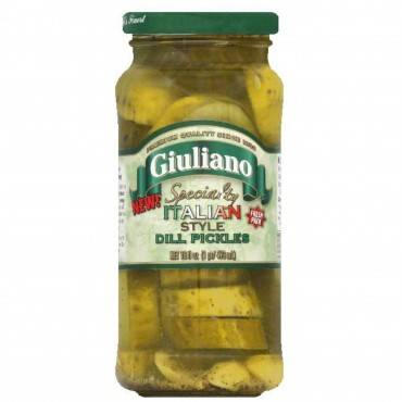 Giuliano's Specialty Foods - Dill Pickles - Italian - Case Of 6 - 16 Fl Oz.