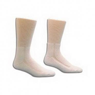 Healthdri Acrylic Diabetic Sock Size 9 - 11, White Part No. 3555-1pk (1/ea)