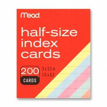 Mead Printable Index Card (PK/PACKAGE)