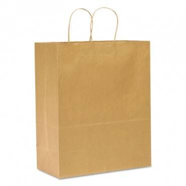 General #65 Paper Shopping Bag, 65lb Kraft, Heavy-Duty 13 X 7 X 17, 250 Bags