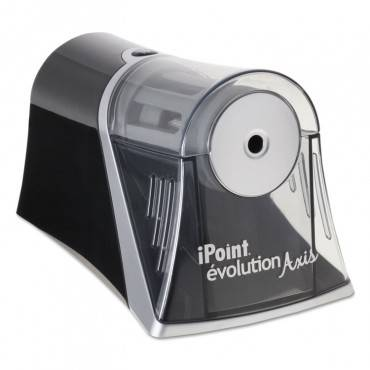 "Ipoint Evolution Axis Pencil Sharpener, Ac-powered, 4.25"" X 7"" X 4.75"", Black/silver"