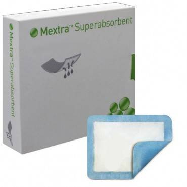 "Mextra Superabsorbent Dressing 4"" X 8"" Part No. 610200 (10/box)"