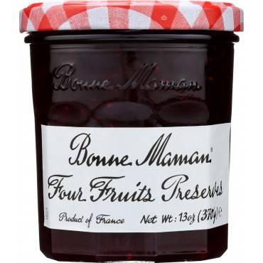 Bonne Maman Conserve - Four Fruit - Case of 6 - 13 oz.