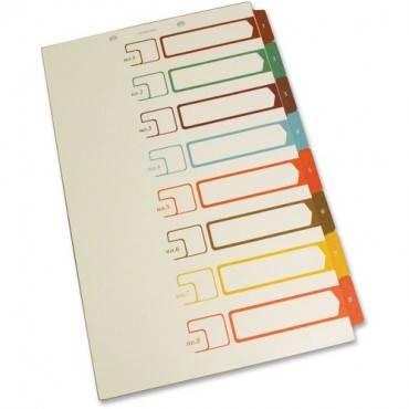 SJ Paper Speedex Legal Size Side Tab TOC Dividers (ST/SET)