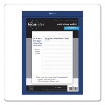 Tops  Focusnotes Legal Pad, 8 1/2 X 11 3/4, White, 50 Sheets