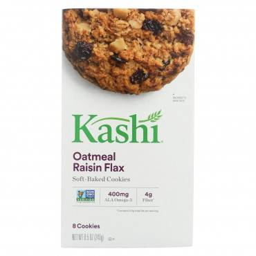 Kashi Oatmeal Raisin Flax - Soft Baked Cookies - Case Of 6 - 8.5 Oz.