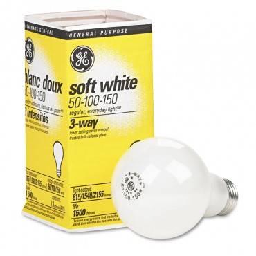 Ge Three-Way Soft White Incandescent Globe Bulb, 50/100/150 Watts