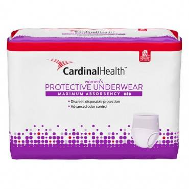"Cardinal Maximum Absorbency Protective Underwear For Women, Medium, 32 - 44"", 95 - 185 Lbs (20/Package)"