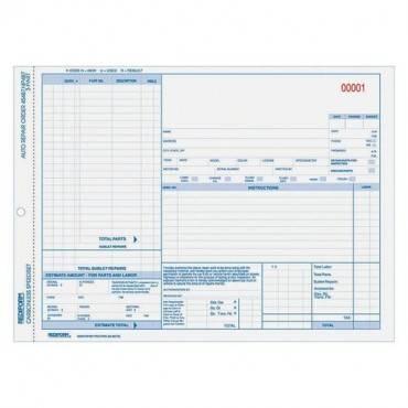 Rediform 3-part Auto Repair Order Forms (PK/PACKAGE)