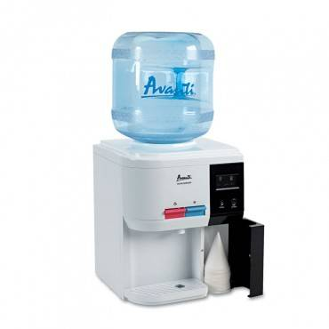 """Tabletop Thermoelectric Water Cooler, 13 1/4"""" Dia. X 15 3/4h, White"""