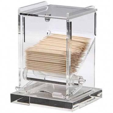 Toothpick Dispenser, Clear Acrylic, 4 X 3.5 X 5