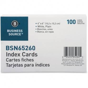 Business Source Plain Index Cards (PK/PACKAGE)