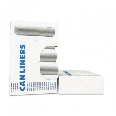 High-Density Can Liner, 38 X 58, 60gal, 19 Microns, Black, 6 Rolls/carton