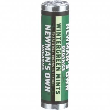 Newman's Own Organics Mints - Organic - Wintergreen - Roll - .75 Oz - Case Of 12