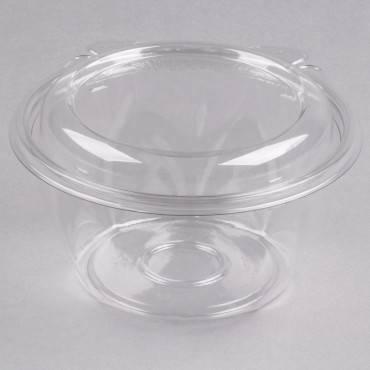 Tamper-resistant, Tamper-evident Bowls With Dome Lid, 16 Oz, Clear, 240/carton