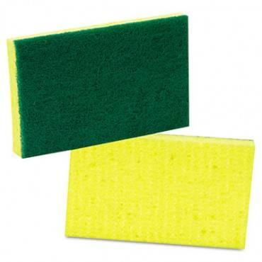 Medium-duty Scrubbing Sponge, 3 1/2 X 6 1/4, 10/pack