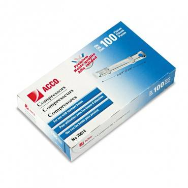 """Premium Two-piece Paper Fasteners, 1"""" Capacity, 2.75"""" Center To Center, Silver, 100/box"""