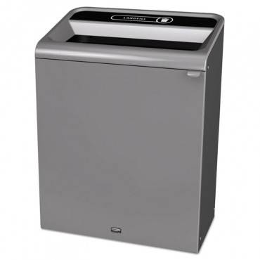 Rubbermaid  Commercial Configure Indoor Recycling Waste Receptacle, 45 Gal, Gray, Landfill