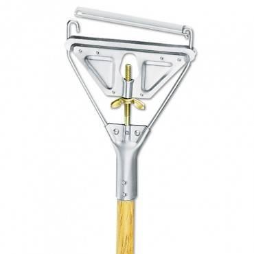 Quick Change Metal Head Wooden Mop Handle, Junior, 7/8 Dia X 54, Natural